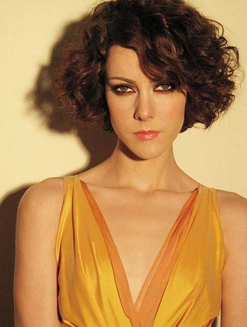 Short Curly Bob Hairstyles Long Face 2014-2015