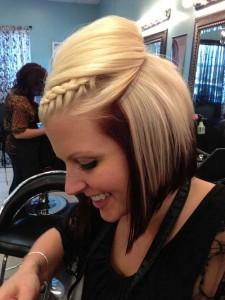 Short Hair Fringe Braid Styles