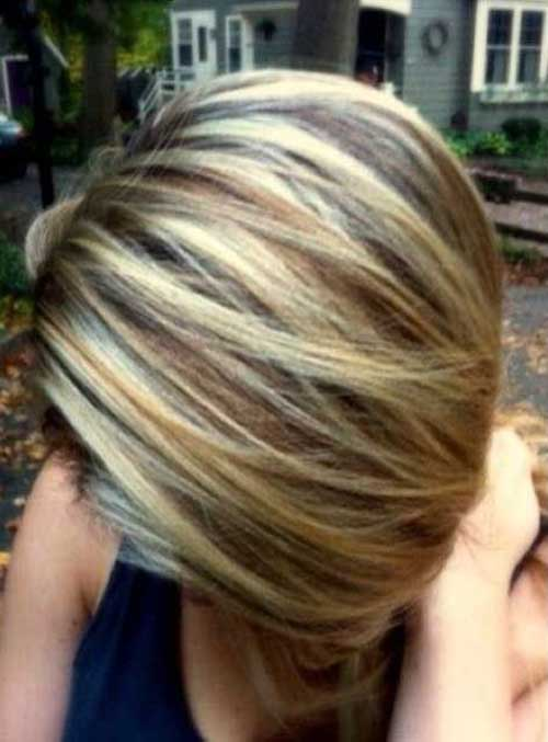Short Caramel Highlighted Bob Hairstyles