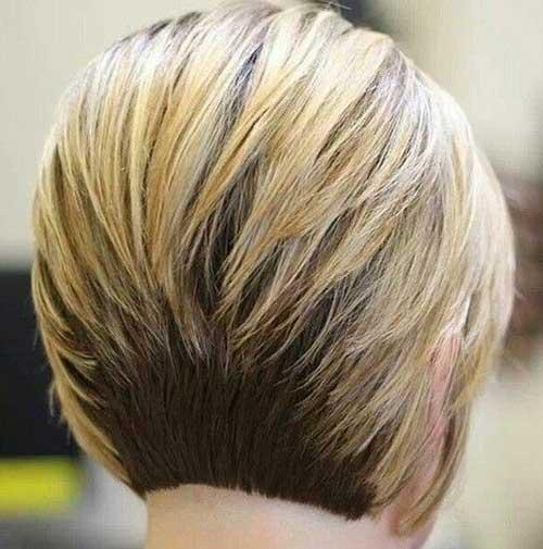Fabulous Layered Inverted Bob Back View Bob Hairstyles 2015 Short Short Hairstyles Gunalazisus