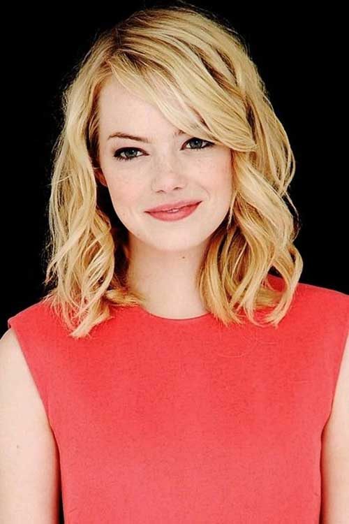 Emma Stone Layered Bob Hairstyles with Bangs