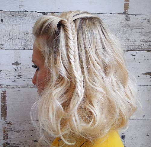Best Thick Blonde Bob with Braids