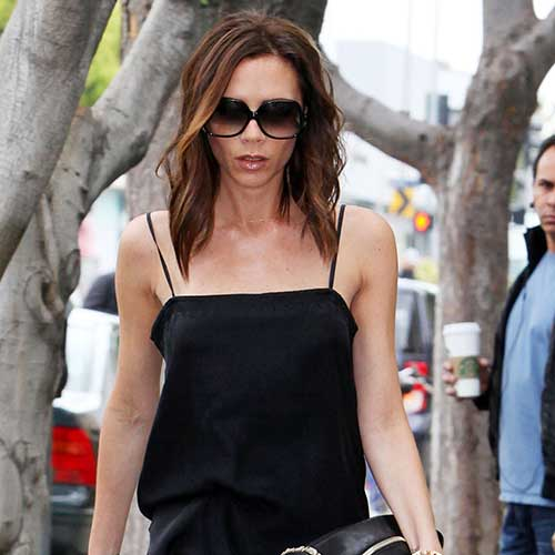 Victoria Beckham Long Bob Hairstyle