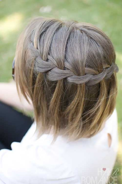 Waterfall Braid for Bob Hair