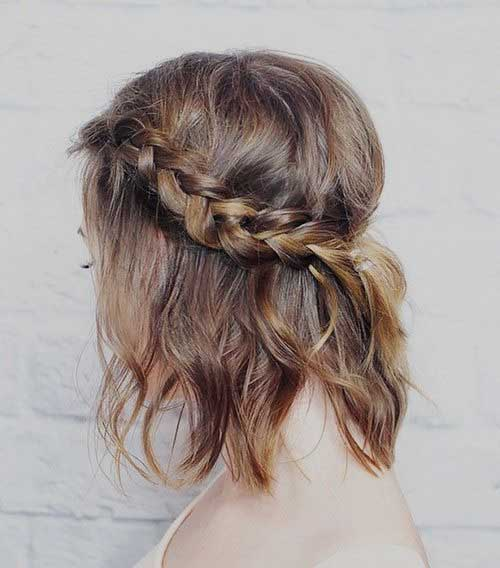 Wavy Hair Long Bob Braid Style