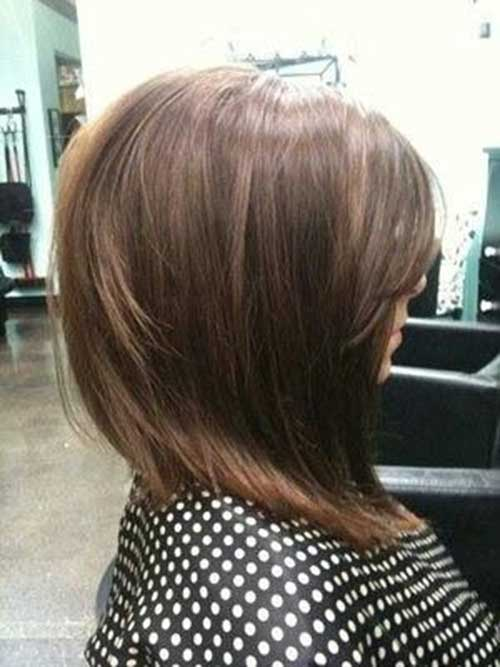 Angled Long Ash Brown Bob