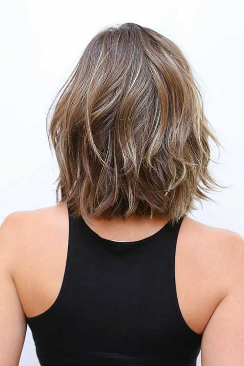 Back View of Long Bob Haircut