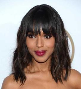 Dark Hair Bangs for Face Shapes