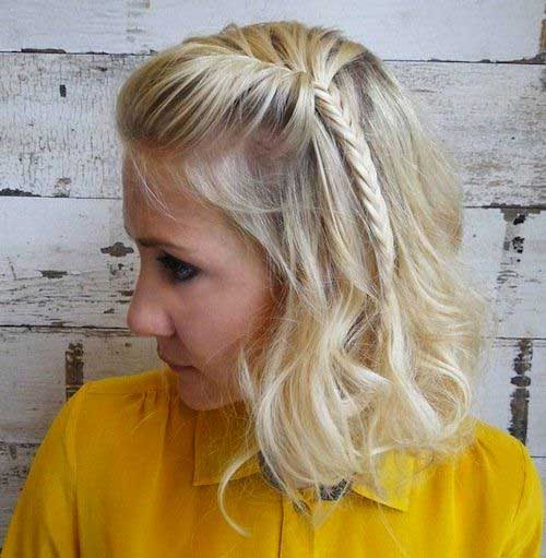 Beach Wave Faux Bob with a Fishtail Braid