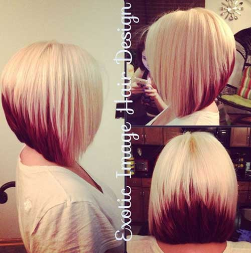 Best Blonde and Red Bob Hairstyle 2015