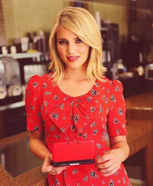 Dianna Agron Bob Hairstyles for Thin Hair