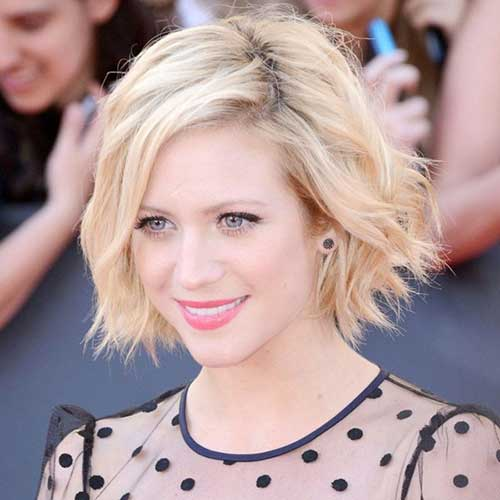 Brittany Snow Short Tousled Bob