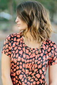 Brunette Bobs with Highlights