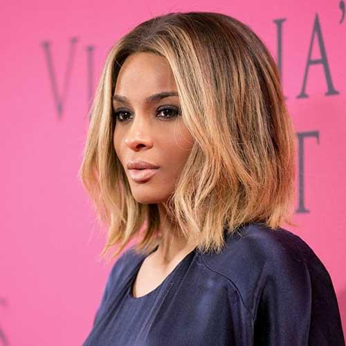 Ciara Celebrity Long Bob Hairstyles