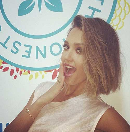 Jessica Alba Celebrity Short Bob Hairstyles