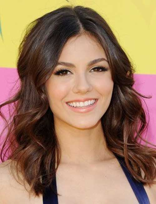 Celebrity Shoulder Length Dark Hair
