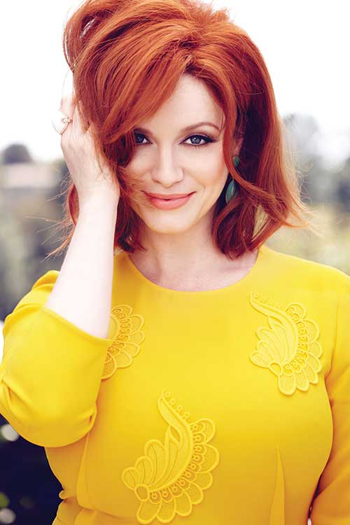 Christina Hendricks Red Bob Hair