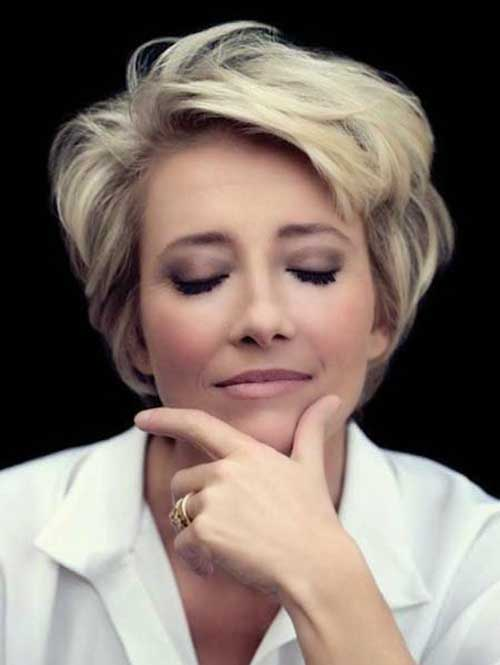 Emma Thompson Pixie Bob Hair