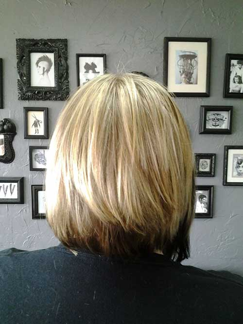 Inverted Layered Bob Hairstyles Back View