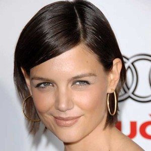 Katie Holmes Side Parted Bob Haircut