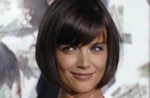 Katie Holmes Bob Hair with Side Bangs