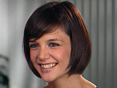 Katie Holmes Fine Bob Hairstyles