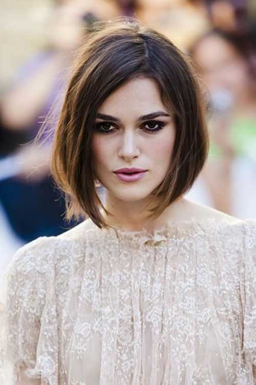 Keira Knightley Side Swept Bob Hair