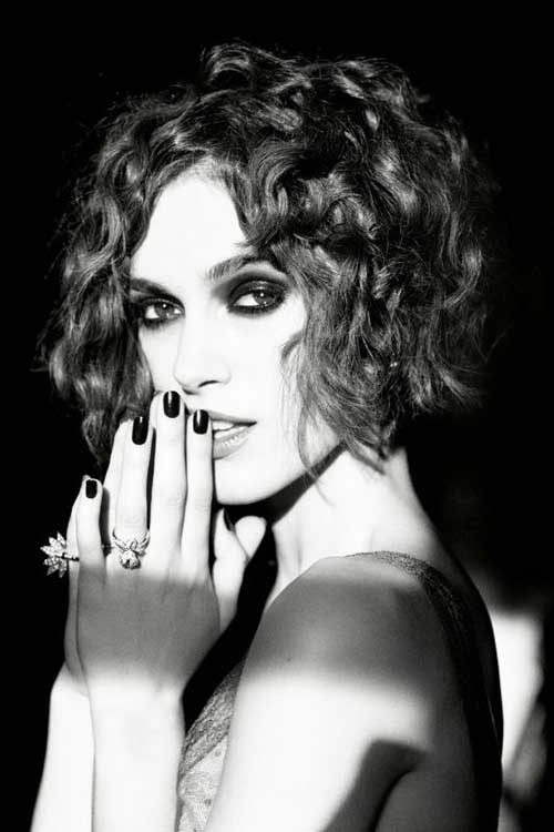 Keira Knightley Curly Bob Haircuts