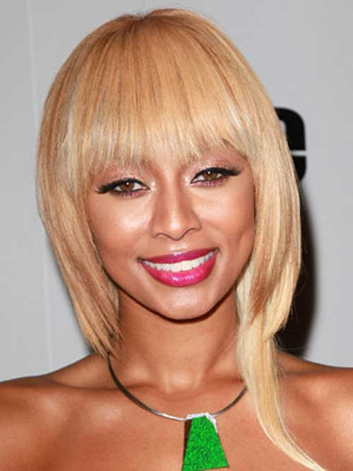 Keri Hilson Short Bob Hairstyles with Bangs
