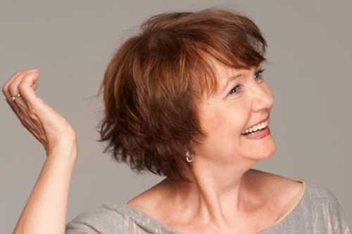 Best Layered Bob for Older Women