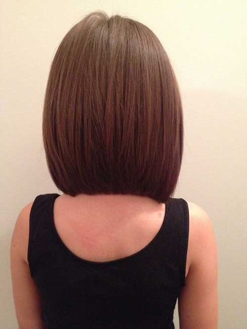 Brown Long A Line Bob Haircuts Back View