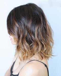 Long Bob Brunette Ombre Brown Hairstyles