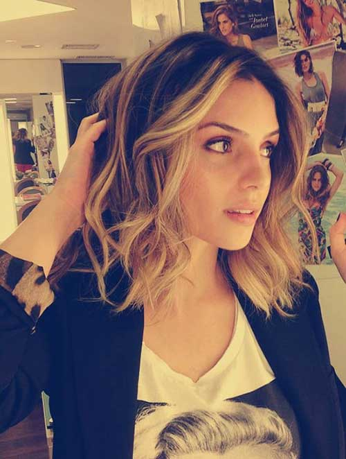 Long Bob Dark Hairstyles 2014