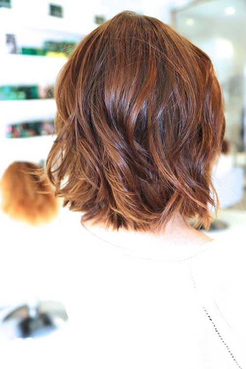 Wavy Long Bob Hair Back View