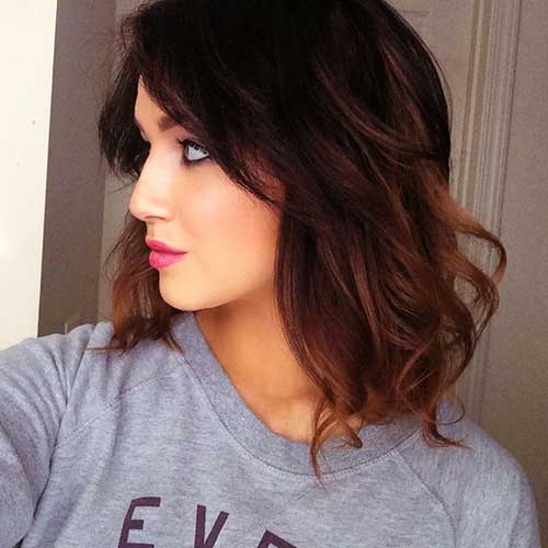 Long Thick Bob Hairstyles Brunette