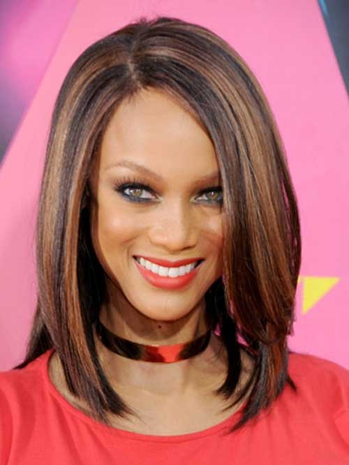 Long Brown Bob Hairstyles for Women