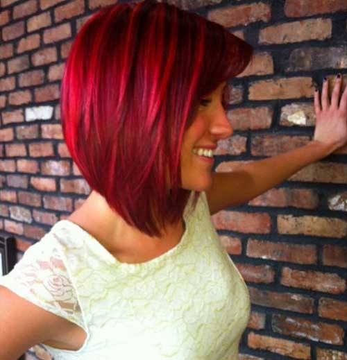 Medium Red Bob Hairstyles