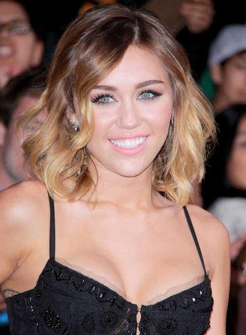 Miley Cyrus Wavy Bob