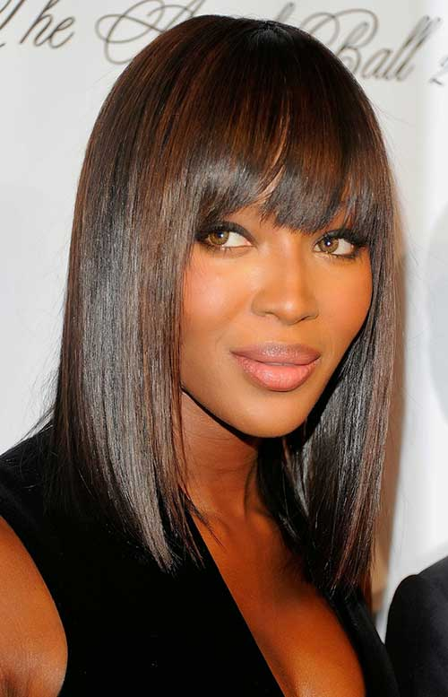Naomi Campbell Long Bob Hairstyle