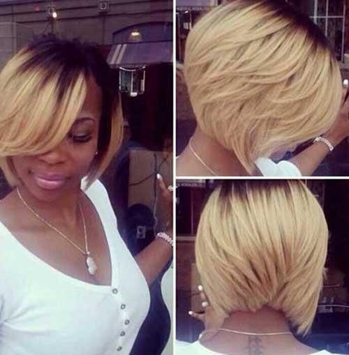 Ombre Short Hair Blonde for Black Women