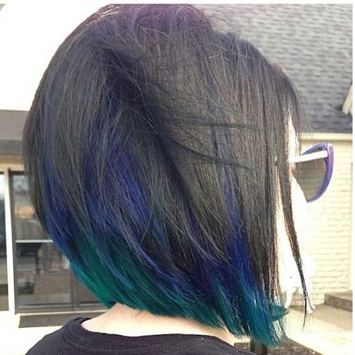 Peacock Bob Hair Color