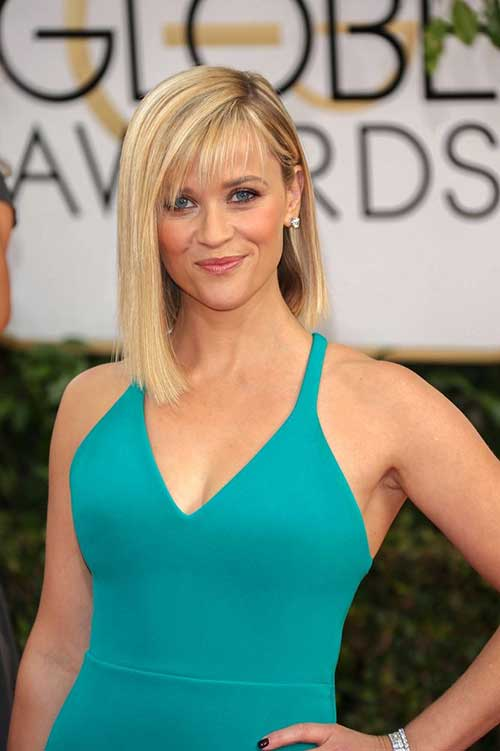 Reese Witherspoon Long Bob with Side Bangs