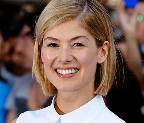 Rosamund Pike Bob Hair