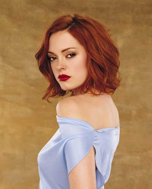 Rose McGowan Red Bob Hairstyles