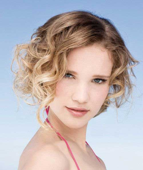 Short Curly Bob Hairstyles for Girls