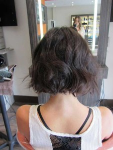 Short Bobbed Hair Back View