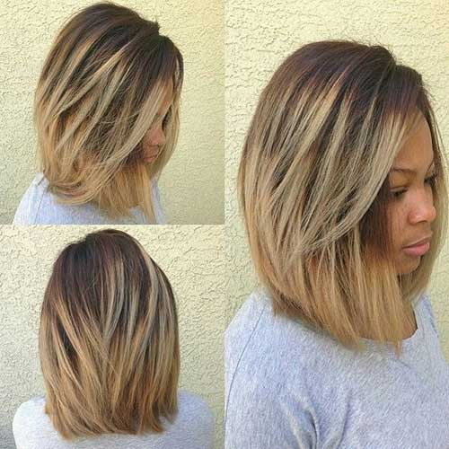 Short Medium Bob Haircuts for Black Girls