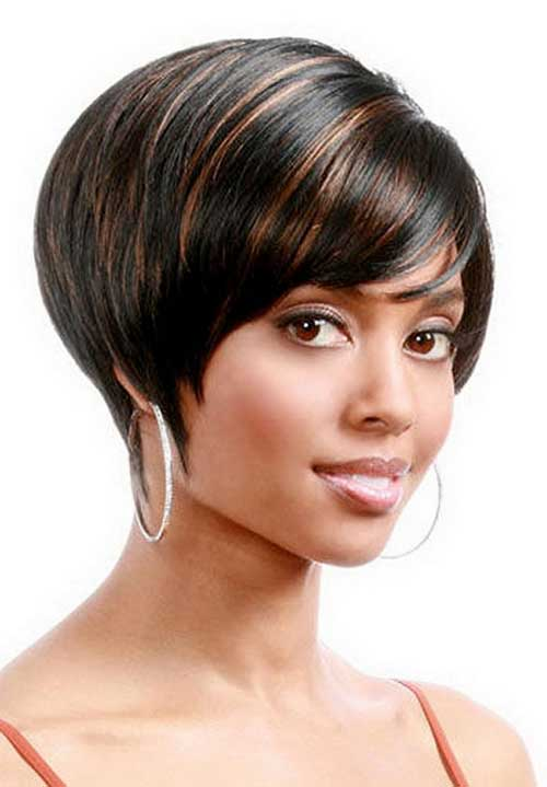 Highlighted Very Short Bob for Black Ladies