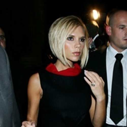Victoria Beckham Blonde Short Hairstyles