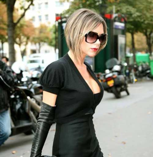 Victoria Beckham Bob Cut with Highlights